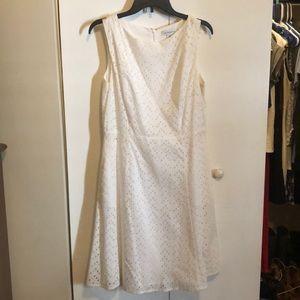 Liz Clairborne white cotton dress